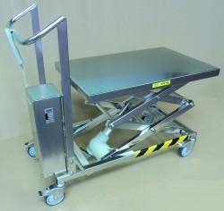 Table élévatrice électrique inox 200 kg