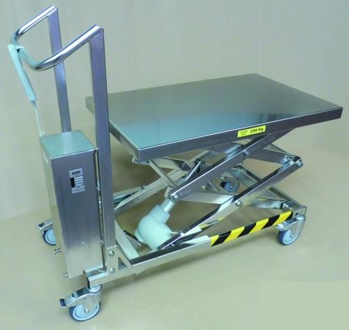 Table élévatrice électrique inox 200kg